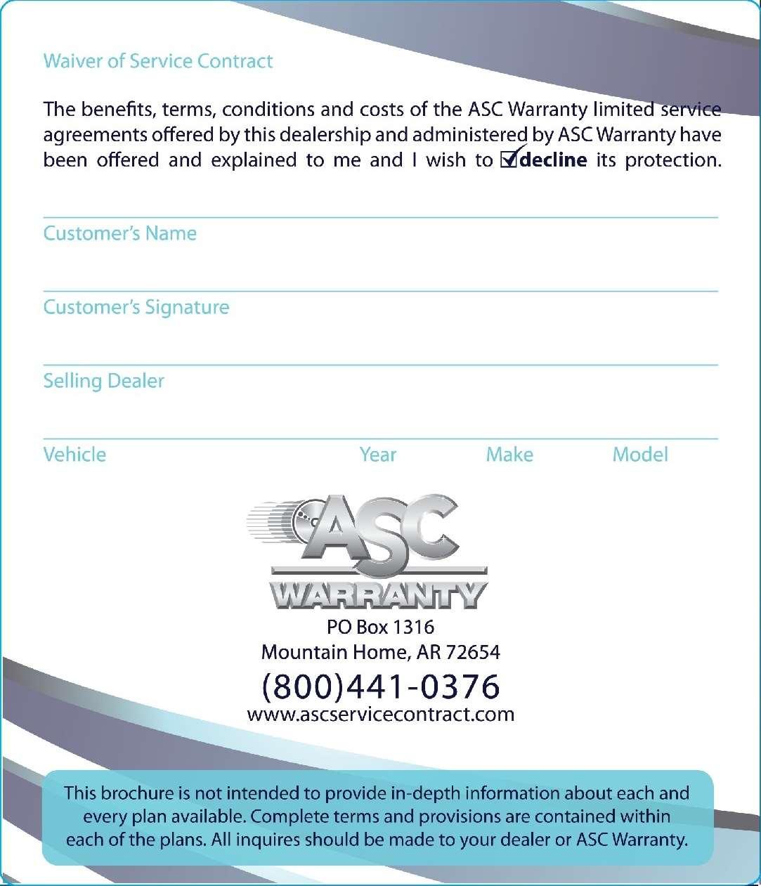Asc Warranty Elkhart Goshen South Bend Mishawaka Michiana
