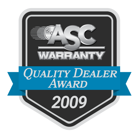 ASC Warranty Quality Dealer Award