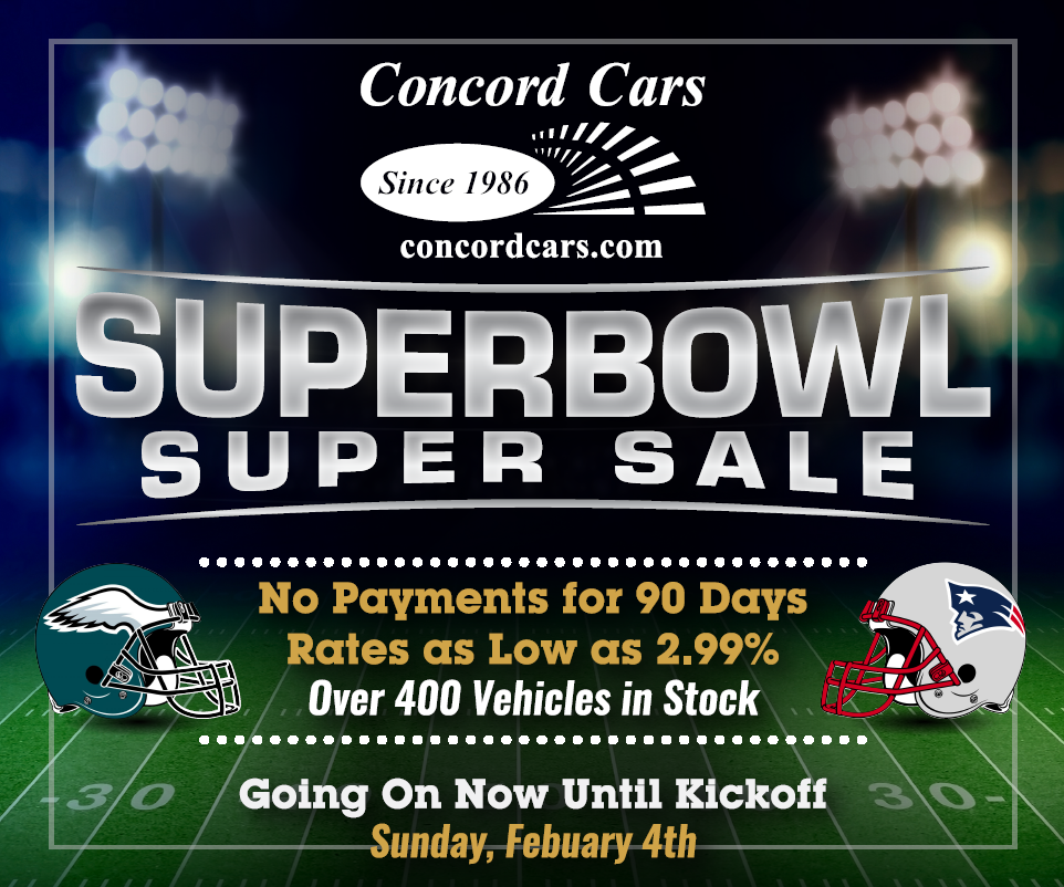 Concord Cars Superbowl Sale