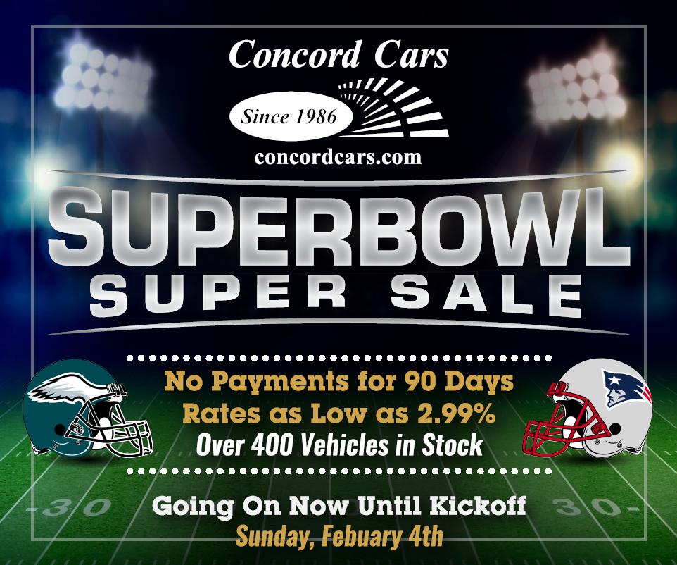 Concord Cars Superbowl Sale