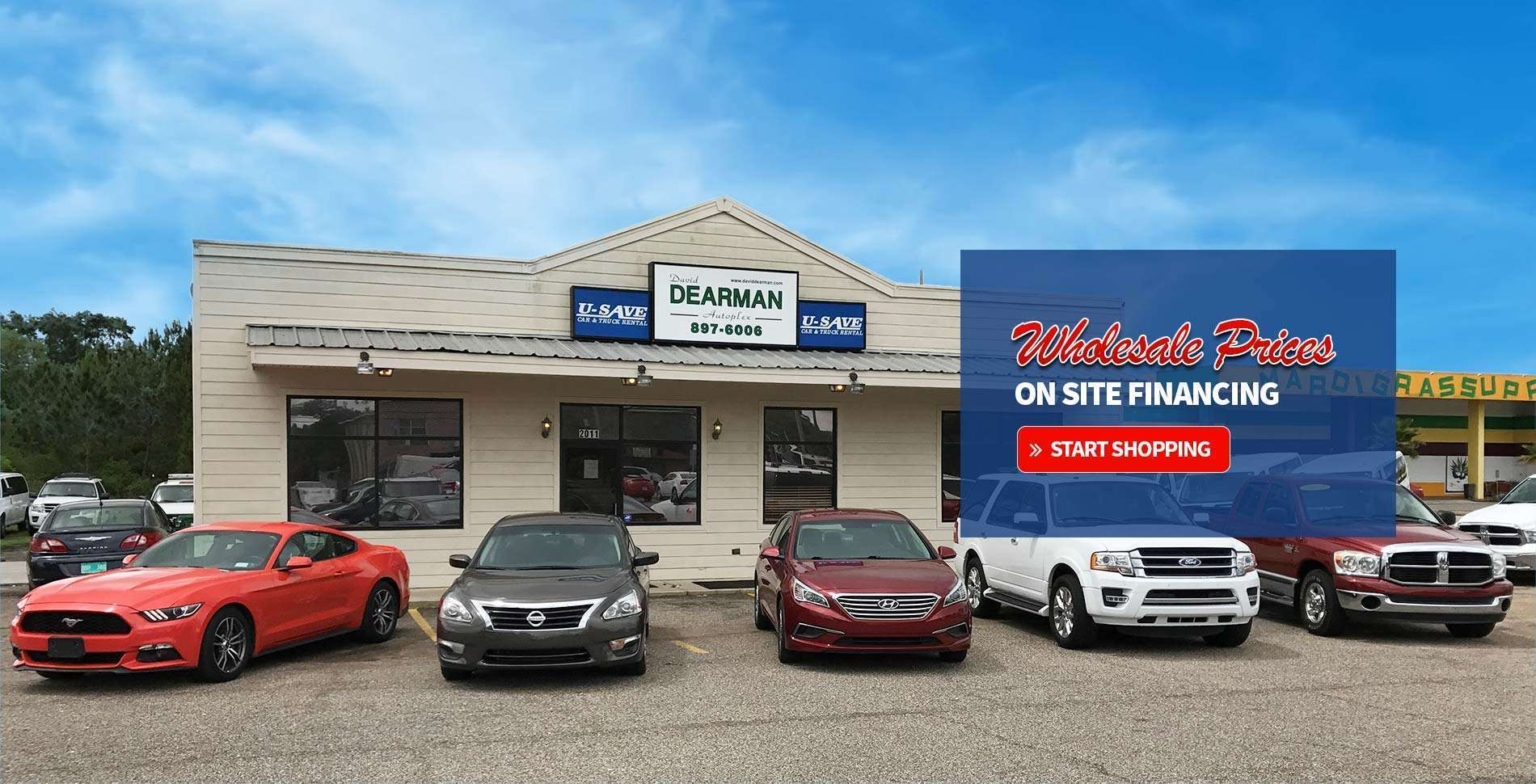 david dearman autoplex southern auto credit u save rentals used cars gulfport ms. Black Bedroom Furniture Sets. Home Design Ideas
