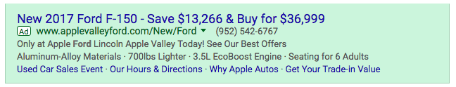 Apple Valley Ford PPC Marketing