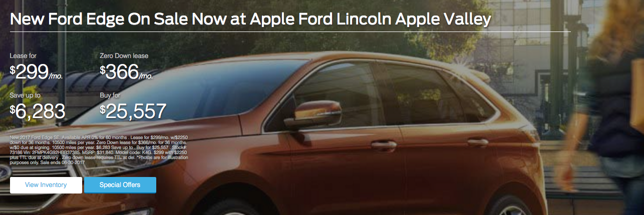 Apple Valley Ford Landing Pages