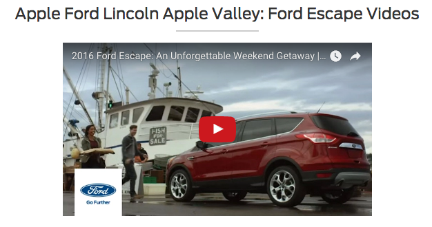 Apple Valley Ford Videos