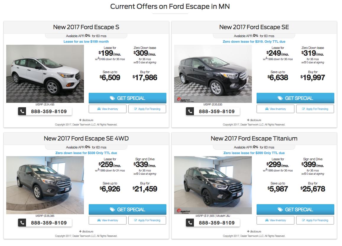 Apple Valley Ford Dealer Teamwork Offers
