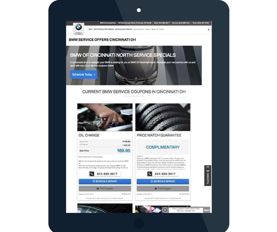 Dealer Teamwork BMW service offers
