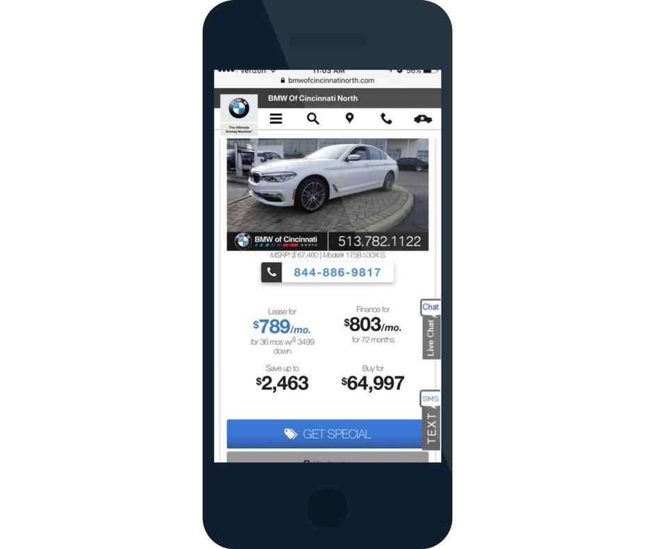 Dealer Teamwork BMW mobile pages