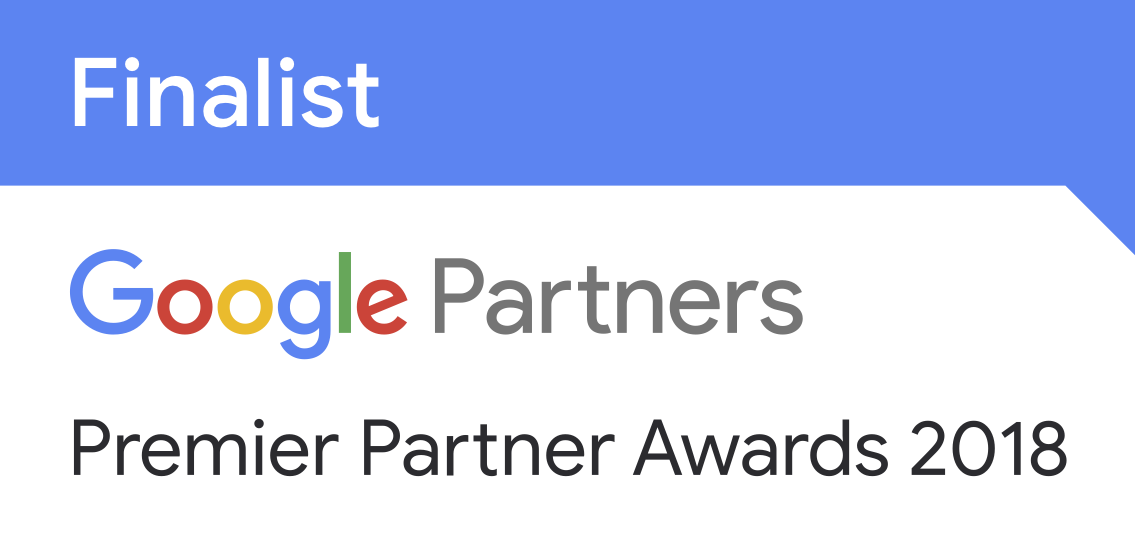 2018 Google Premier Partner Award Finalist Badge for Mobile Innovation
