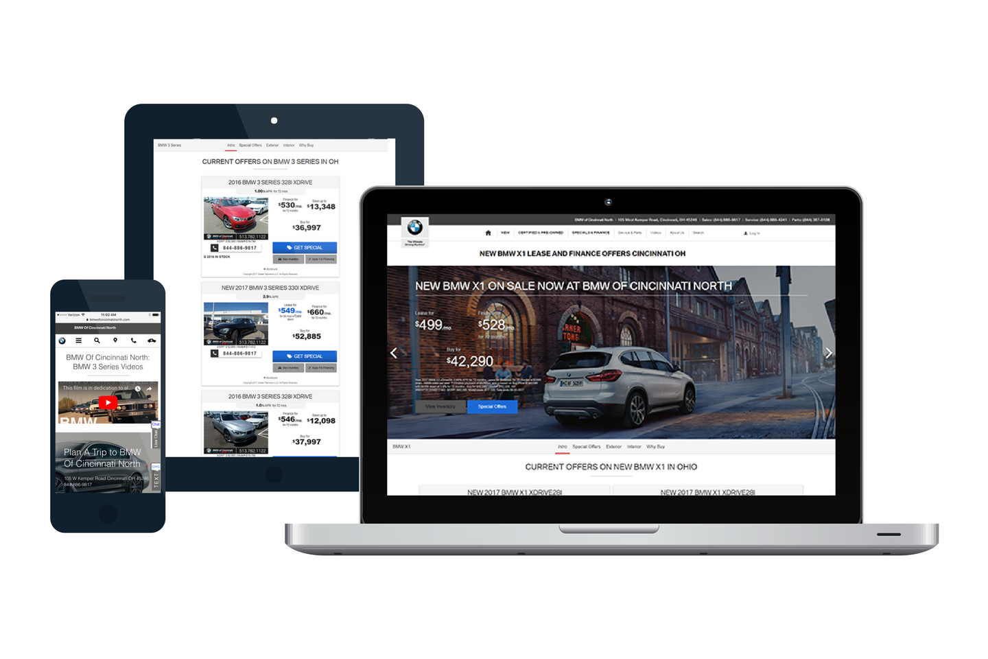 Dynamic and Responsive Landing Pages - BMW of Cincinnati North