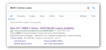 Paid Search - BMW of Cincinnati North