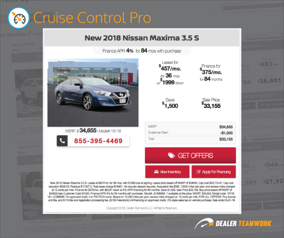 "MPOPâ""¢ Cruise Control Pro Offer - Dealer Teamwork"