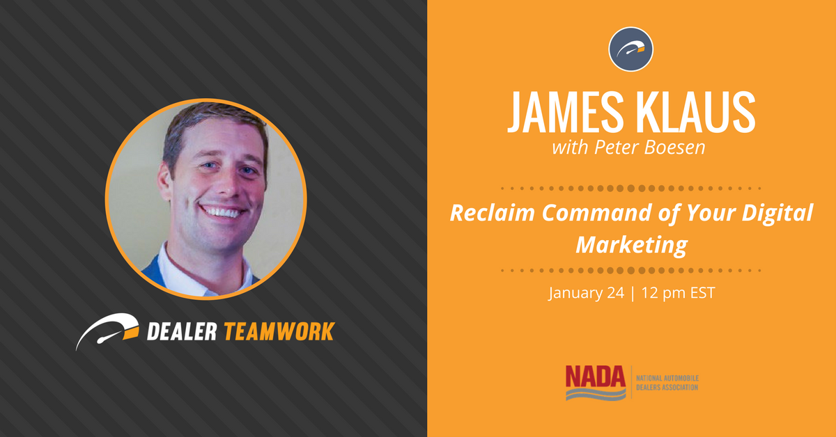 NADA Webinar - Dealer Teamwork