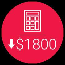 $1800 Budget Savings
