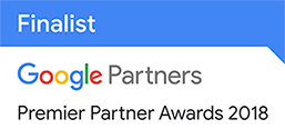 2018 Google Premier Partner Award Finalist - Mobile Innovation Badge