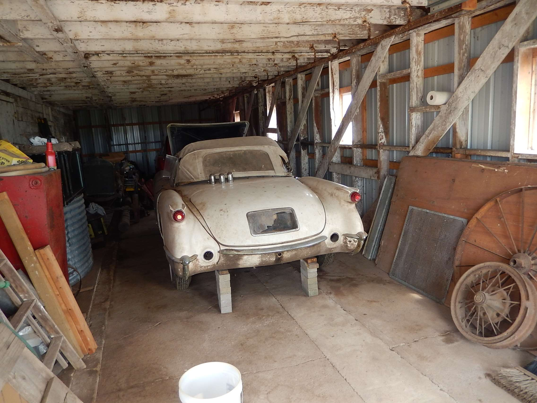 1954 Corvette In Barn
