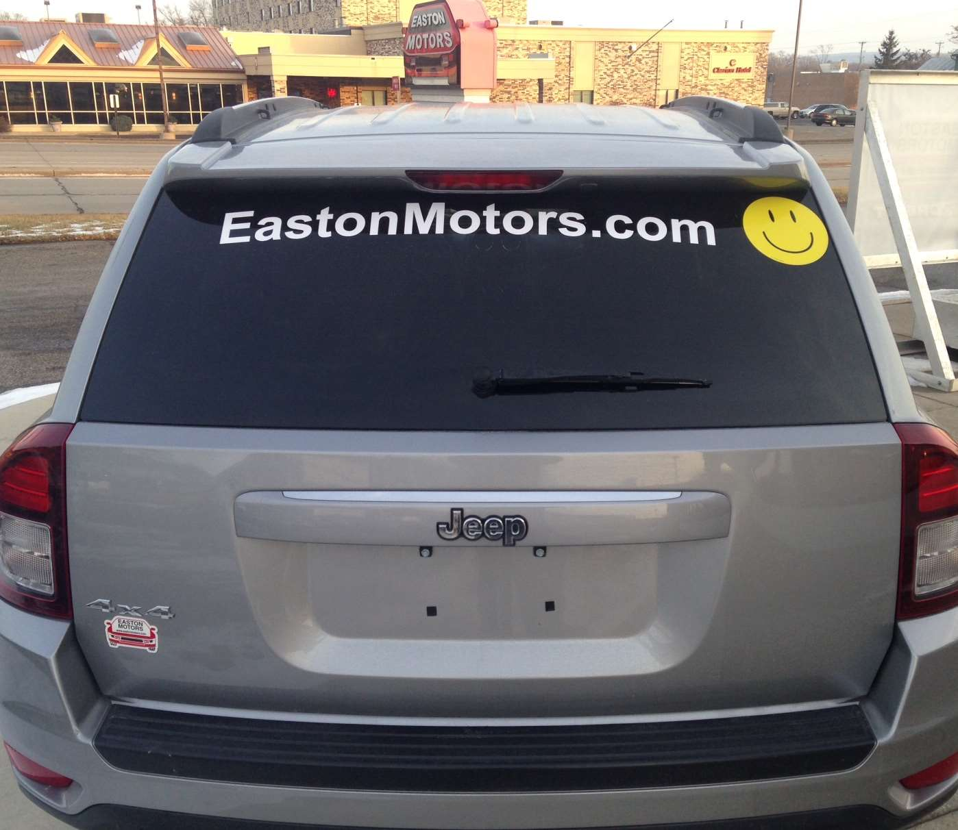 Half price oild changes with Easton Motors Sticker
