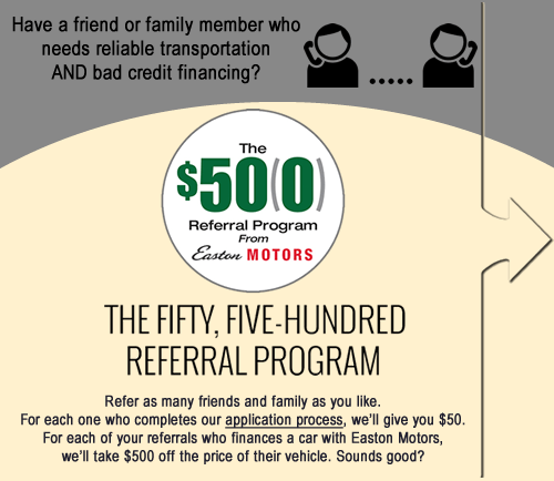 Referral Program -Easton motors