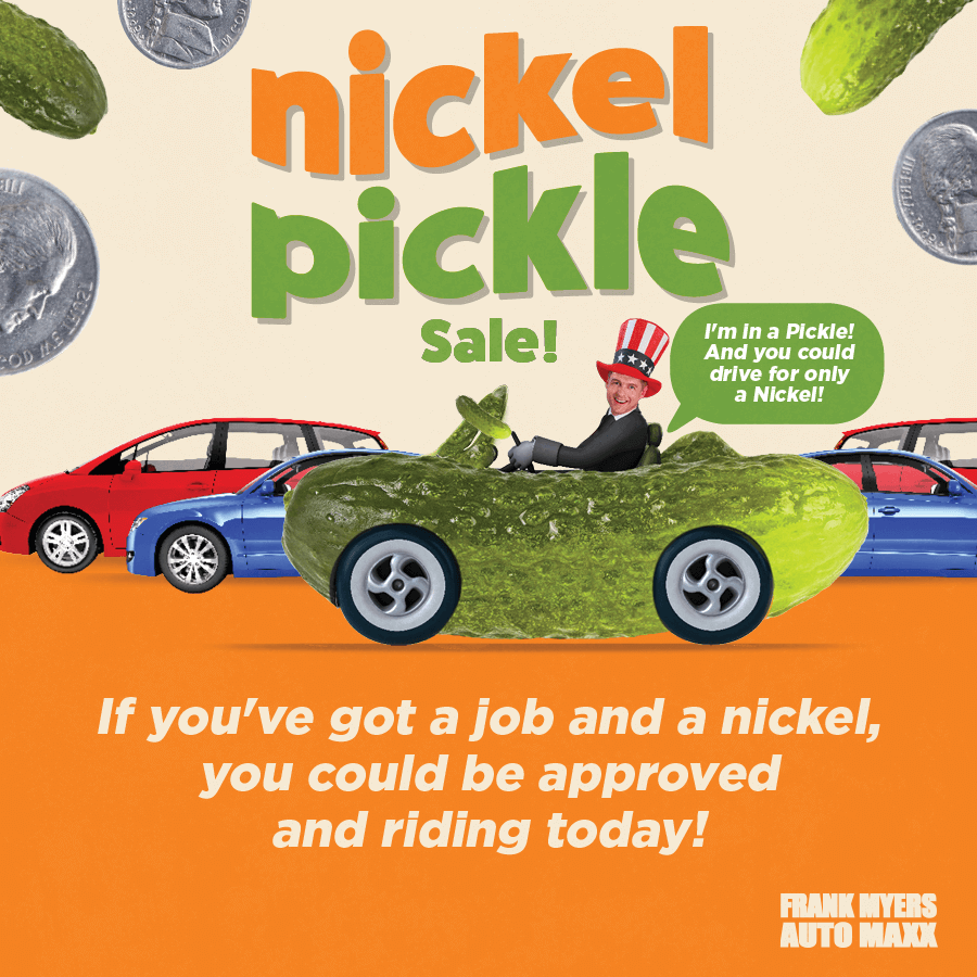 Frank Myers Pickle Sale