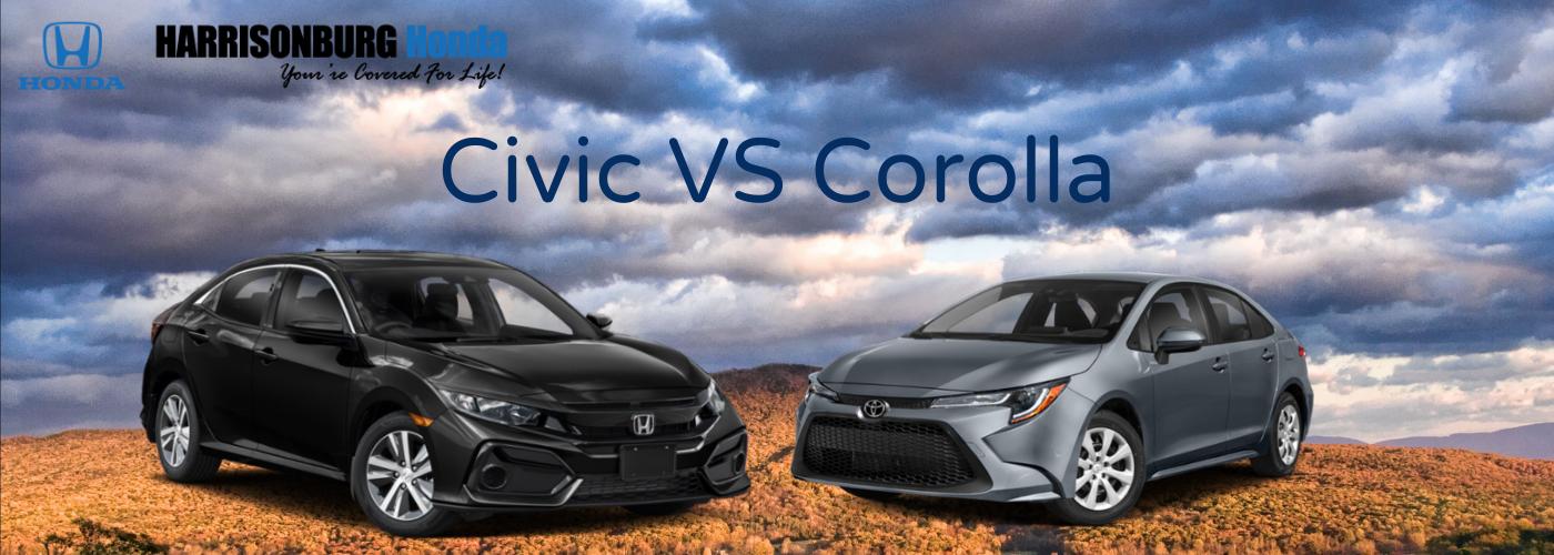 Honda Civic vs Toyota Corolla Harrisonburg VA