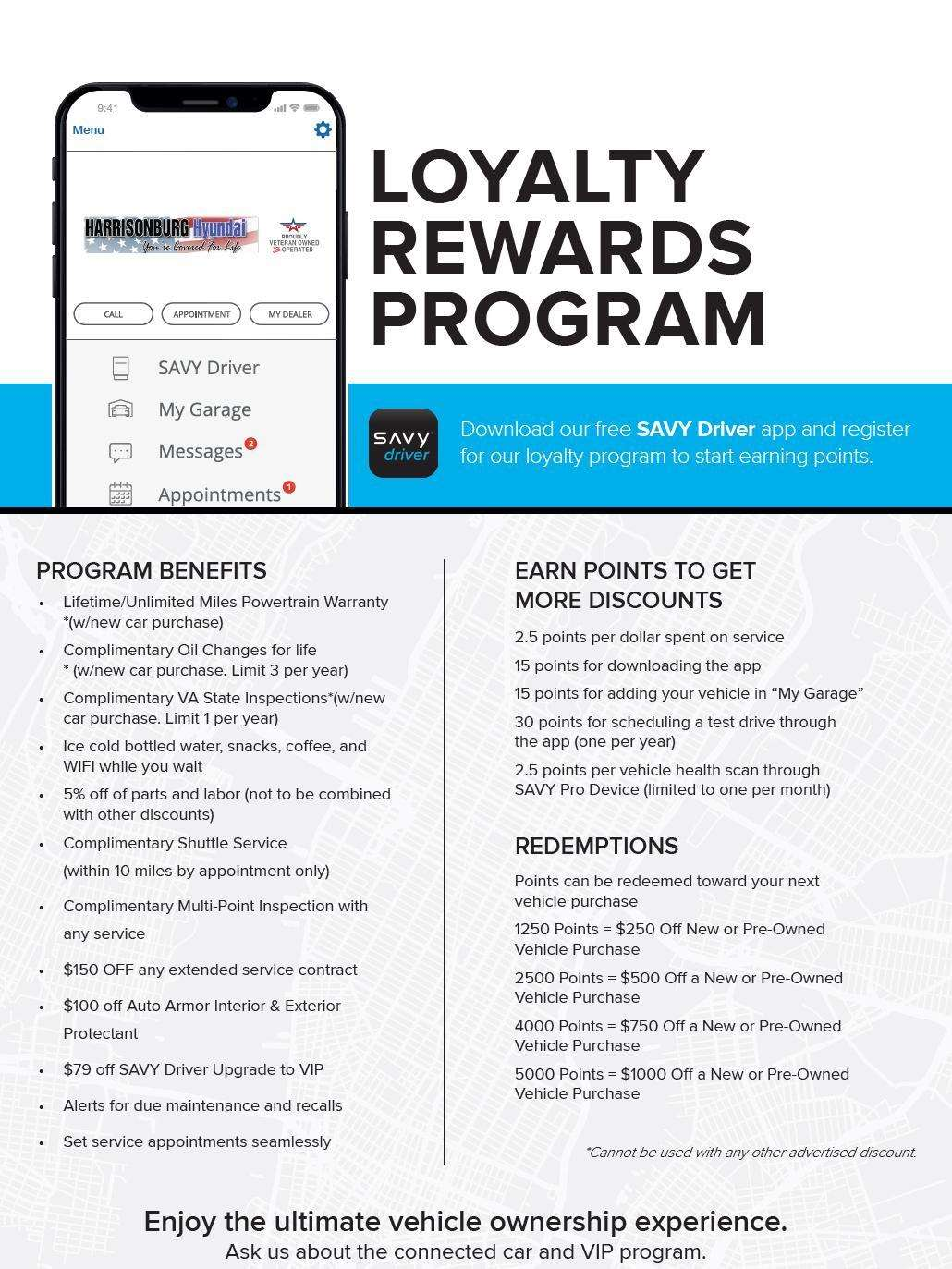 Savy Rewards - Harrisonburg Hyundai