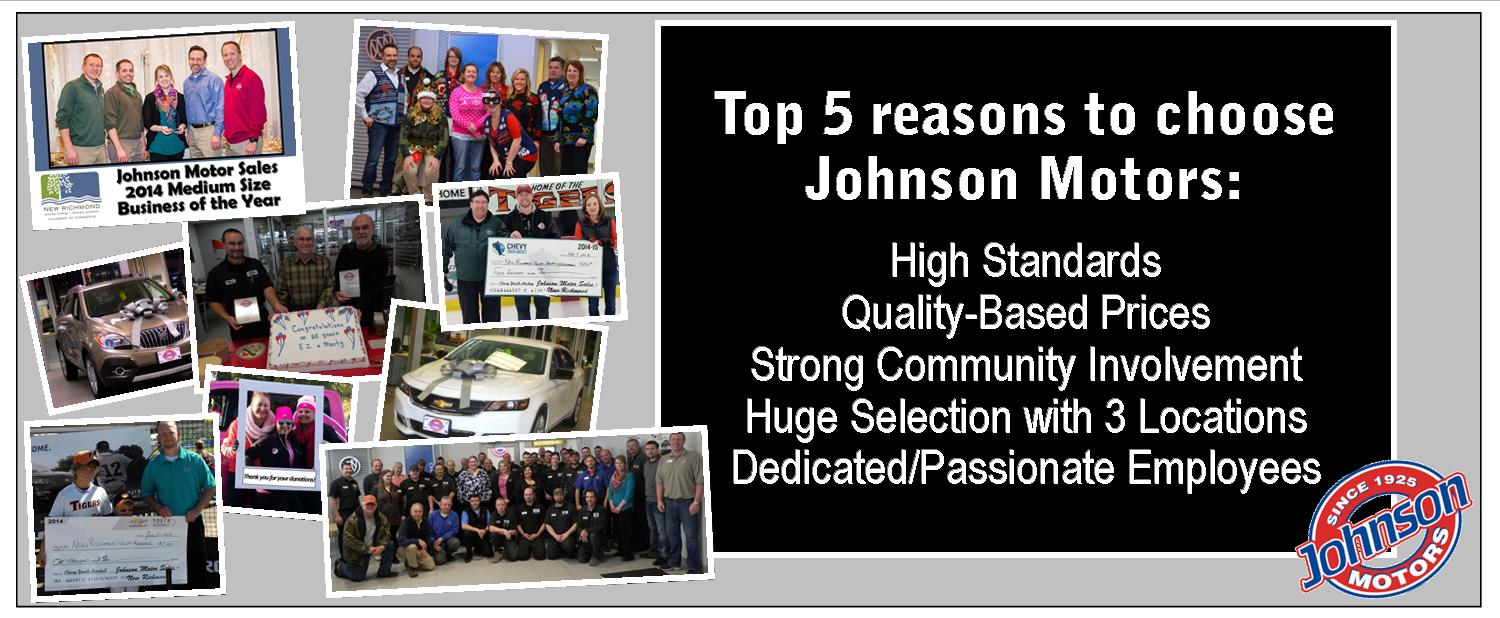5 reason to choose Johnson Motors