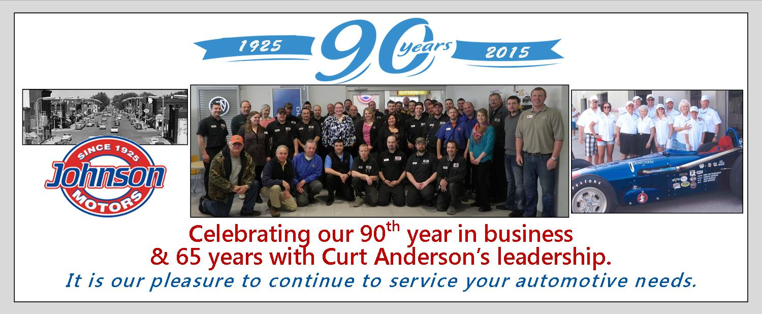 Johnson Motors & Ford 90 yrs in business