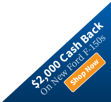 $2,000 Cash Back on new Ford F-150s