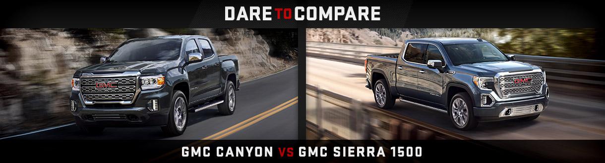 GMC Canyon vs GMC Sierra 1500   Spirit Lake, IA
