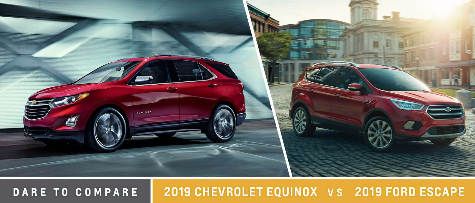 Compare 2019 Ford Escape and 2019 Chevrolet Equinox | Motor Inn | Iowa