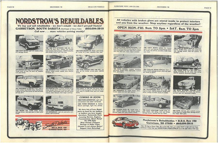 Nordstroms Magazine 1988