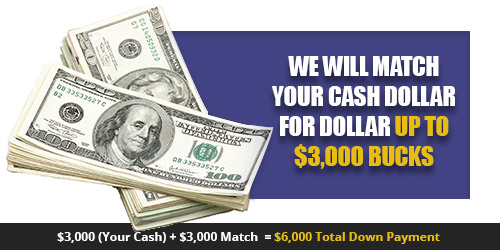 We will match your cash up to $3000 Quality Auto