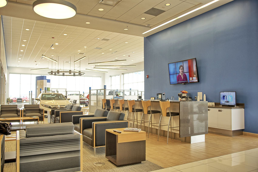 Service Waiting Area at Roy Schmidt Honda