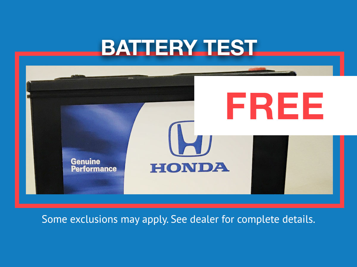 Honda Battery Testing & Inspection Service Special
