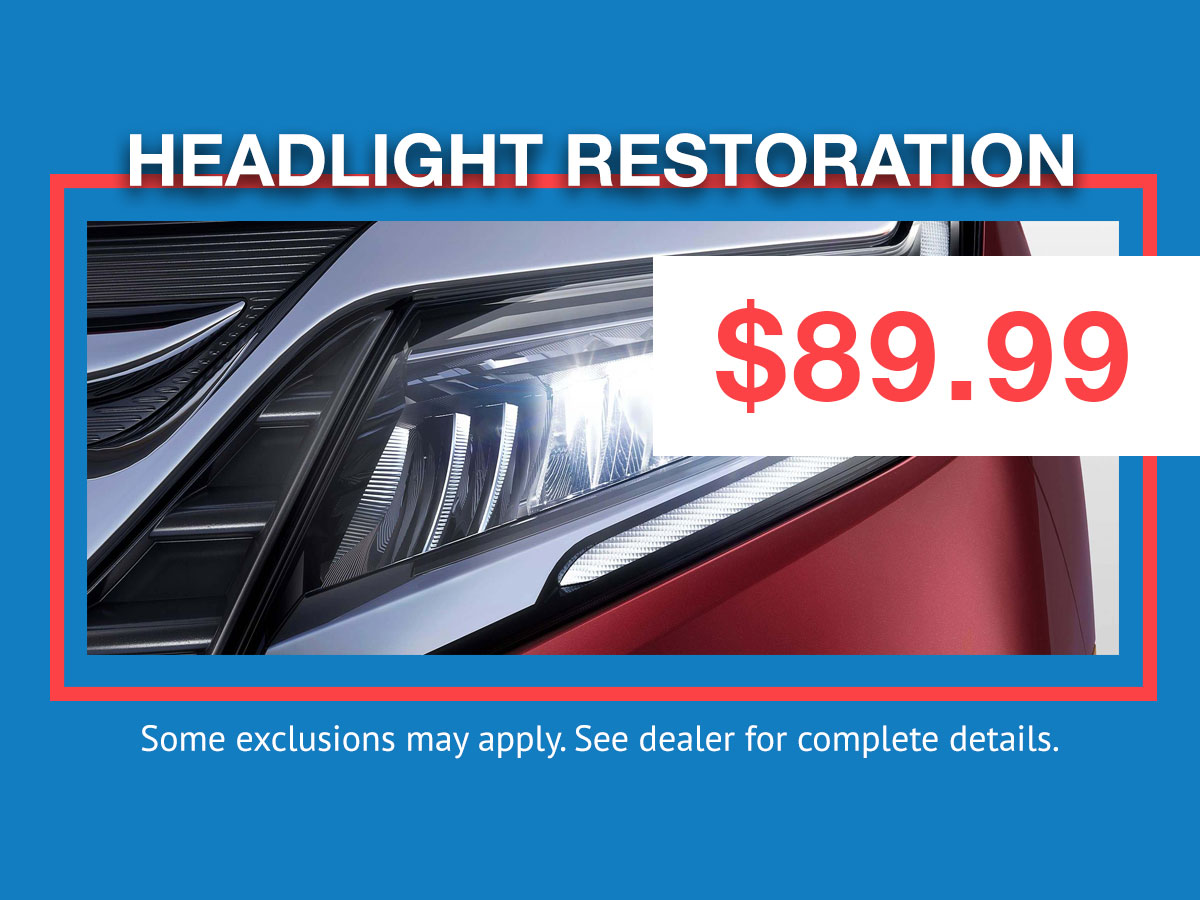 Honda Headlight Restoration Coupon