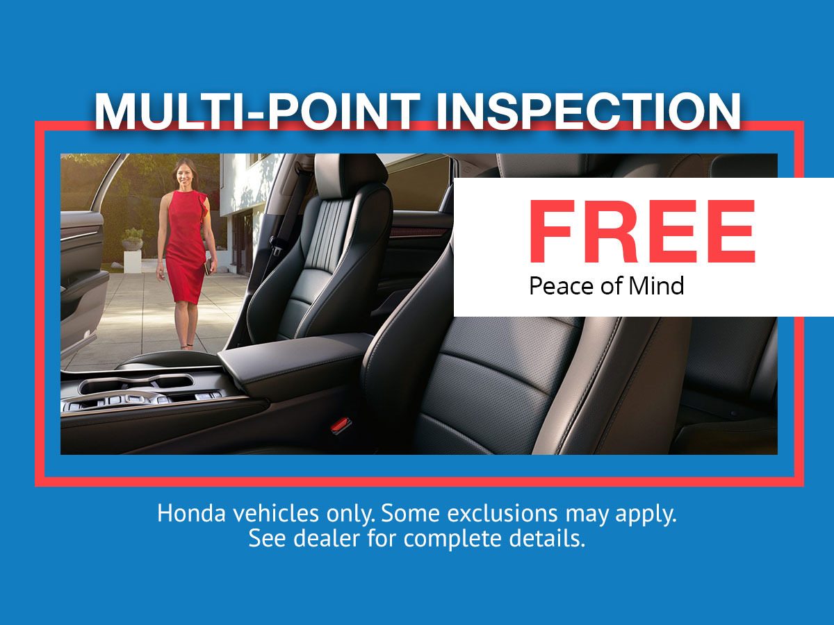 Free Honda Multipoint Inspection at Roy Schmidt Honda