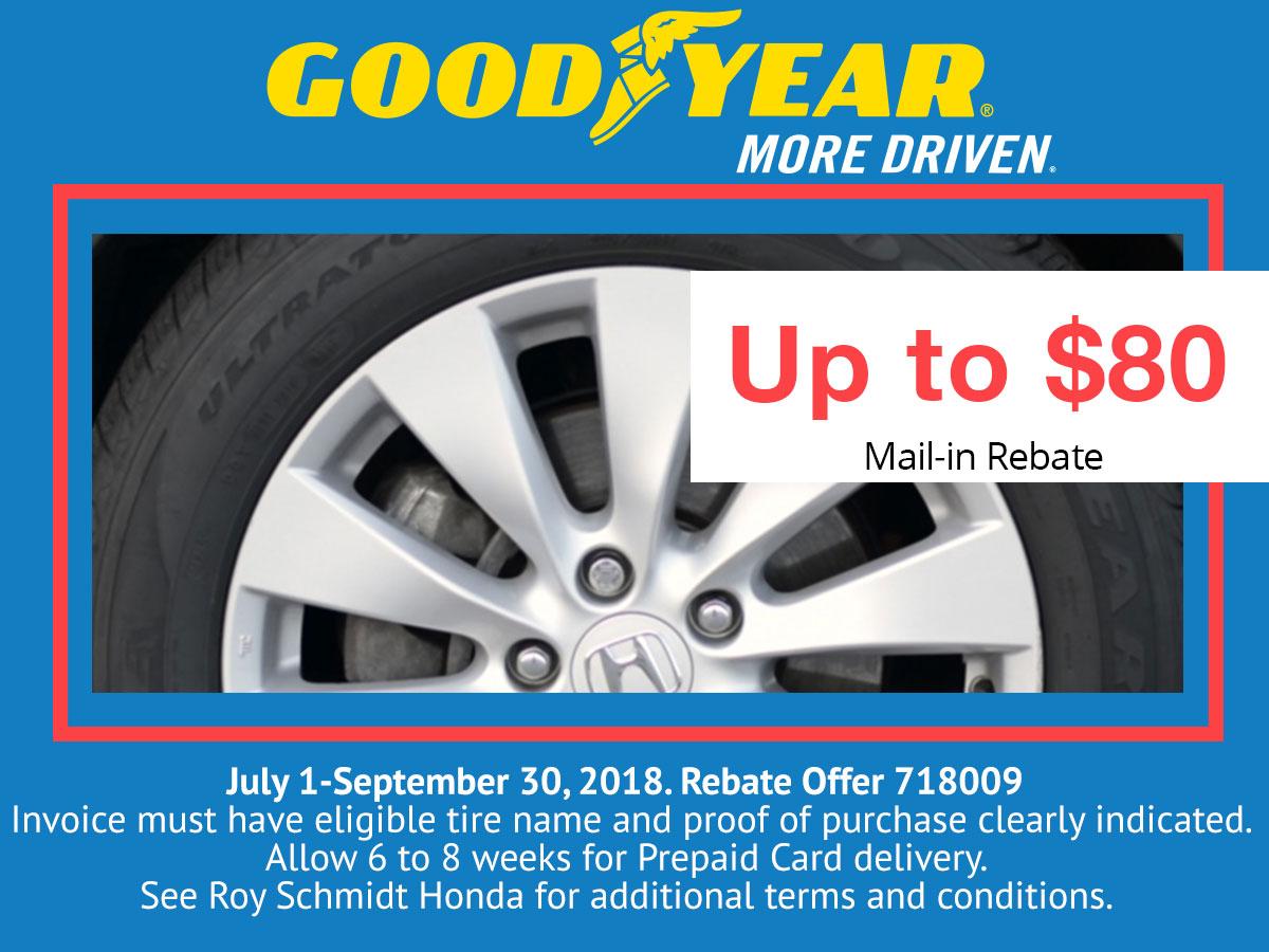 Honda Goodyear Tire Rebate Coupon