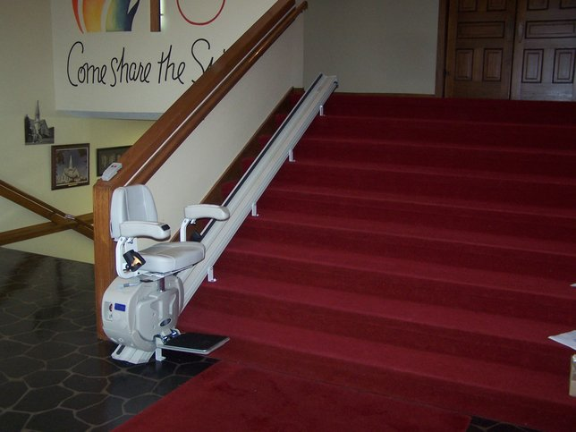 Installed Straight Rail Stair Lift