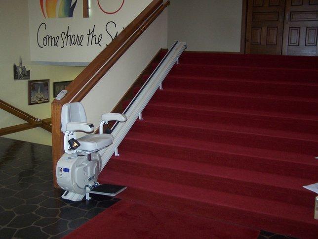 Installed Straight Rail Stair Lift