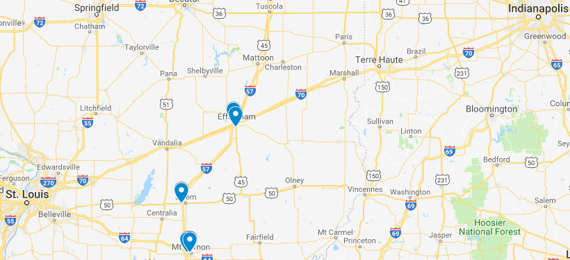 Schmidt Auto Group Locations Map