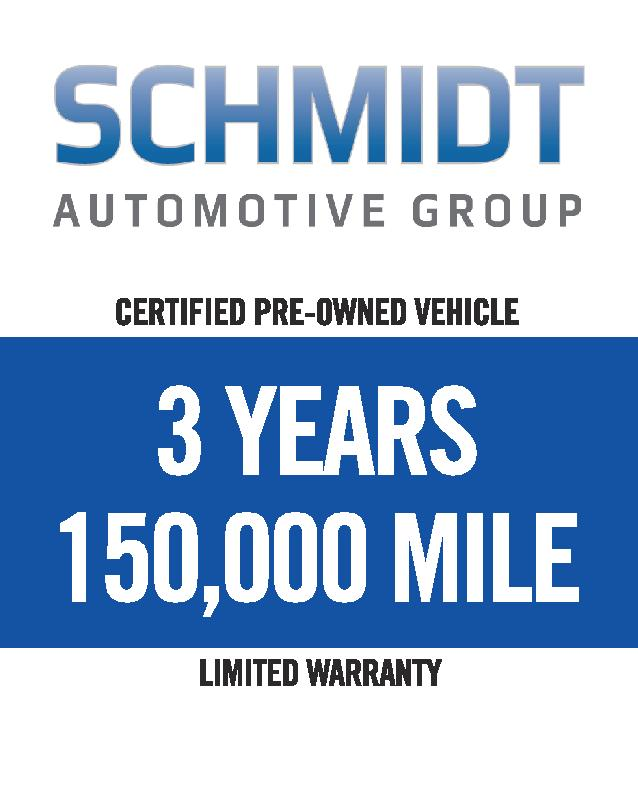 3 years 150,000 mile warranty Schmidt  Auto Group