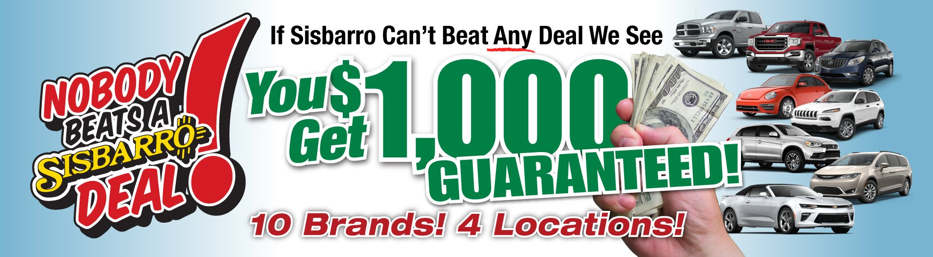 Sisbarro Deal -$1000 Guaranteed