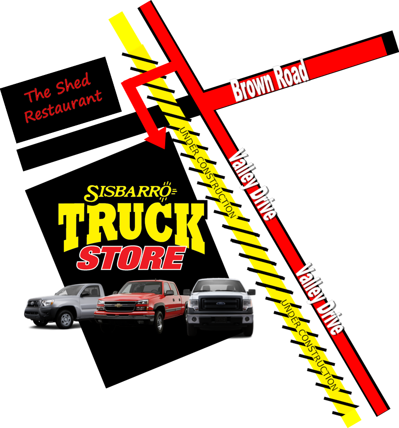 Sisbarro Truck Store Construction Map