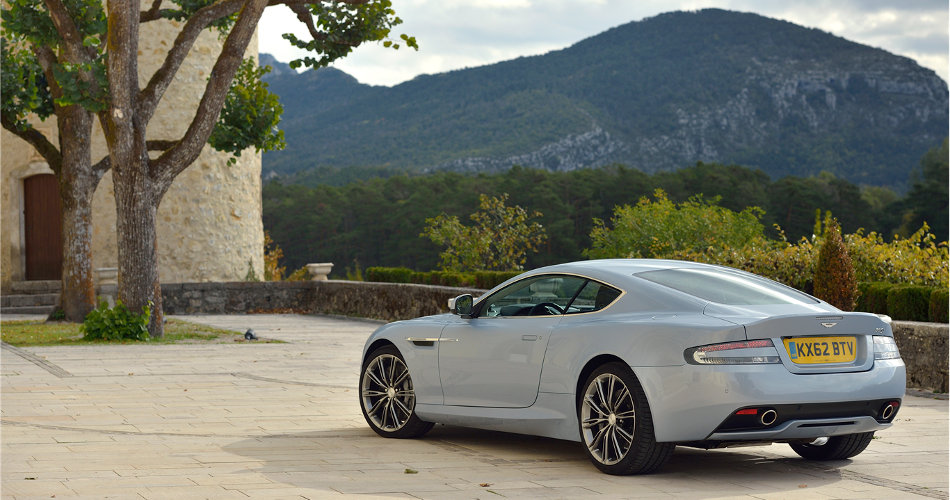 2015 Aston Martin DB9 Parked Outside Mountain
