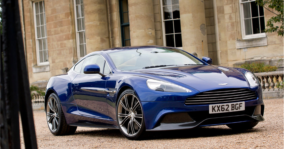 2015 Aston Martin Vanquish Parked Outside Estate