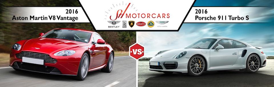 2016 Aston Martin V8 Vantage vs 2016 Porsche 911 Turbo S