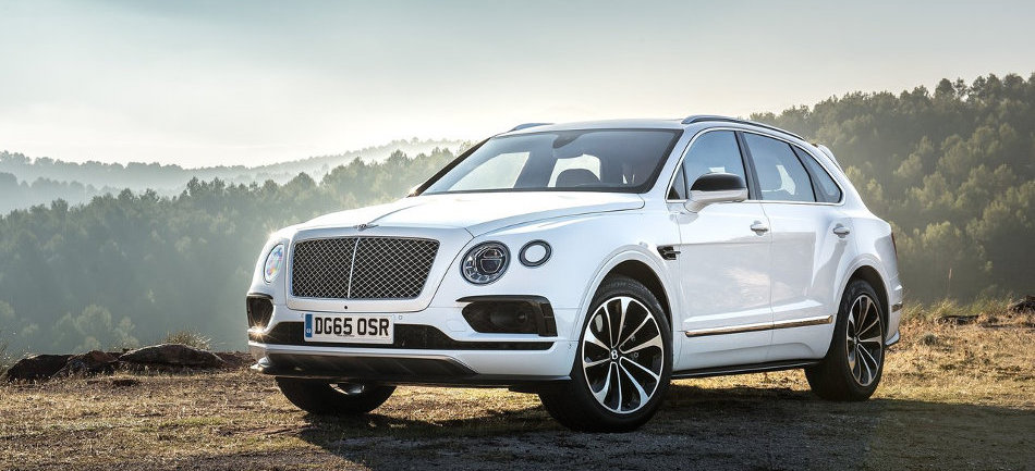 2016 Bentley Bentayga Parked on Mountain