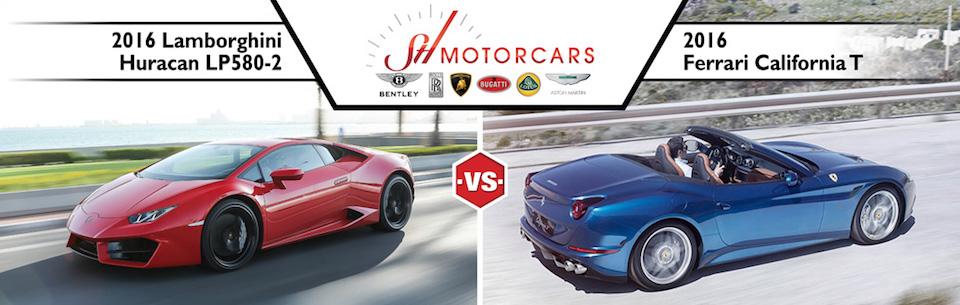 2016 Lamborghini Huracan vs 2016 Ferrari California