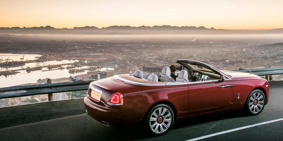 2016 Rolls-Royce Dawn Overlooking City
