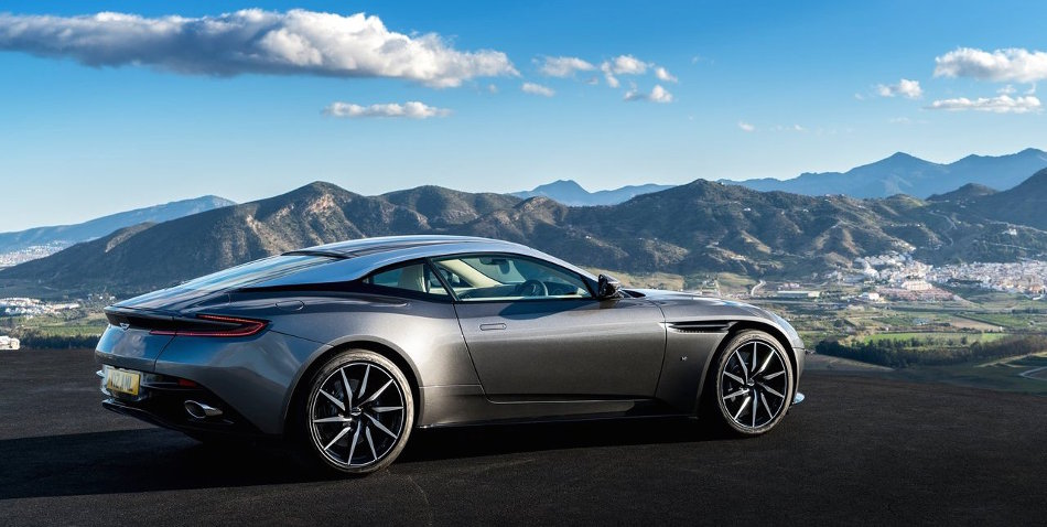 2017 Aston Martin DB11 Parked Near Mountain Range