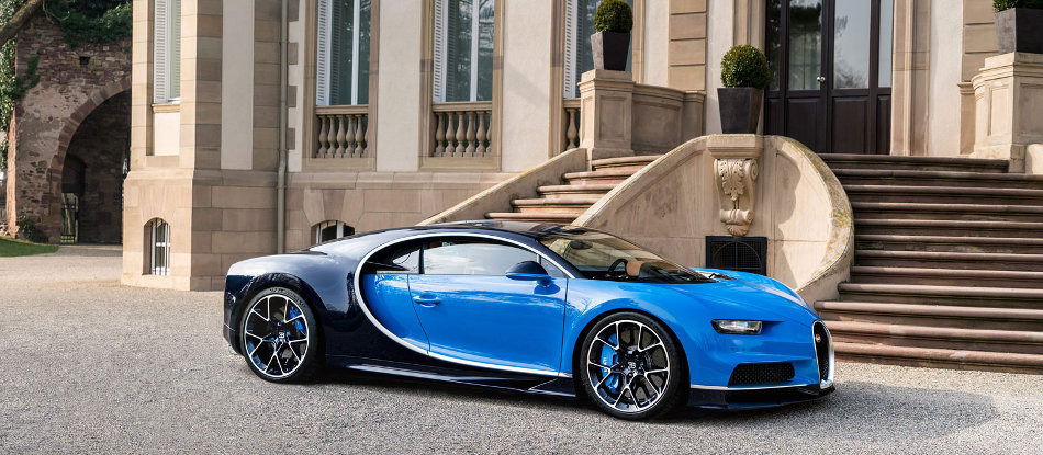 2017 Bugatti Chiron Parked Outside of Estate